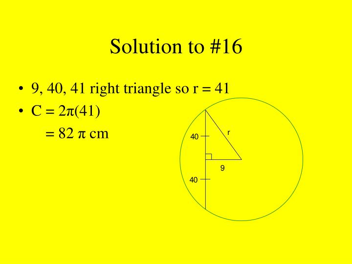 Solution to #16
