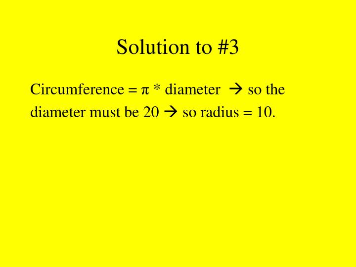 Solution to #3