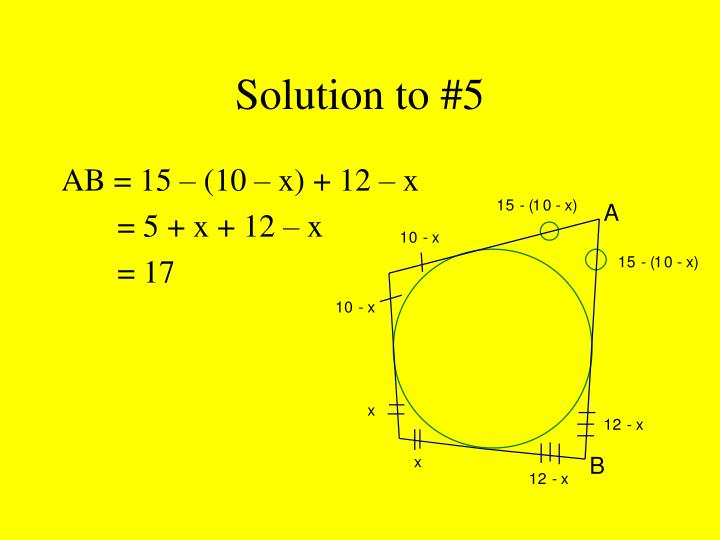 Solution to #5