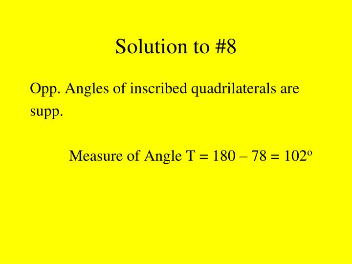 Solution to #8