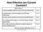 how effective are current controls