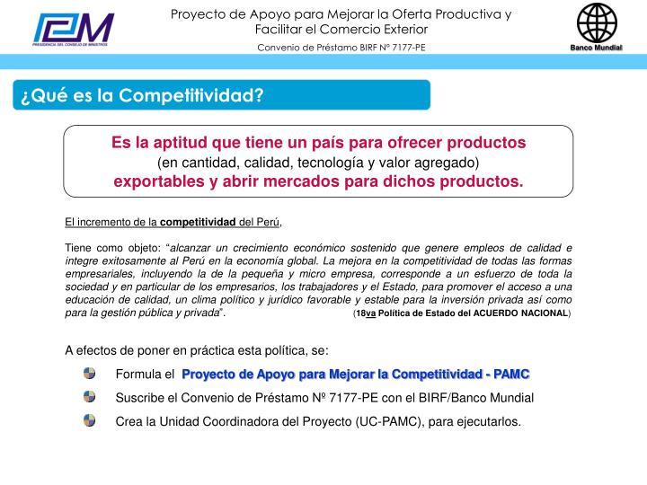 ¿Qué es la Competitividad?