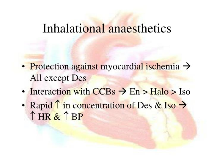 Inhalational anaesthetics