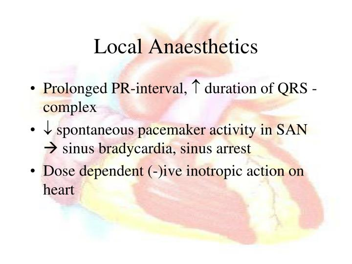 Local Anaesthetics
