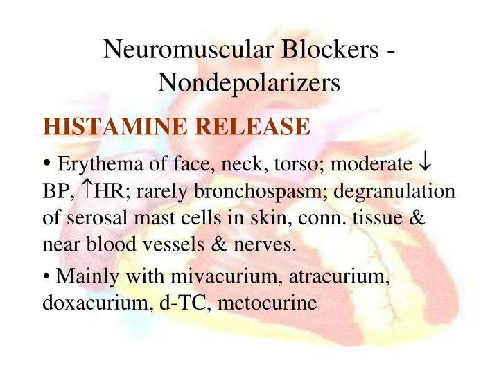 Neuromuscular Blockers - Nondepolarizers