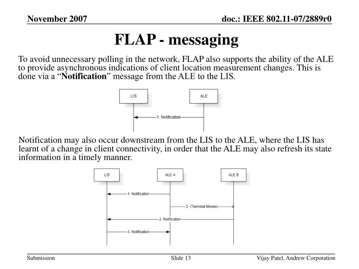 FLAP - messaging