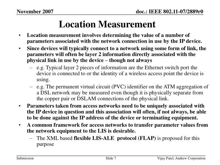 Location Measurement