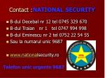 contact national security