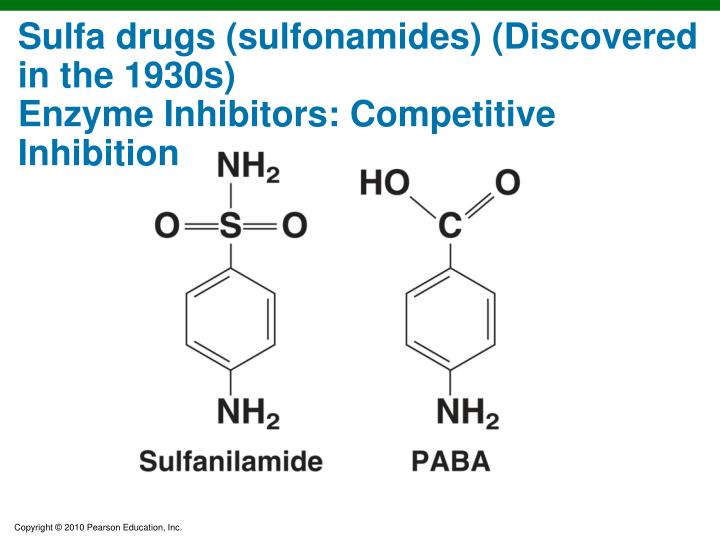 Sulfa drugs (sulfonamides) (Discovered in the 1930s)