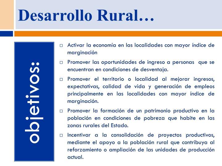 Desarrollo Rural…