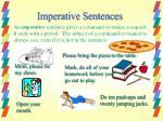 imperative sentences