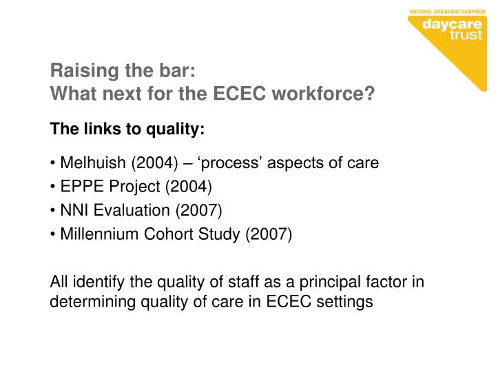 Raising the bar what next for the ecec workforce1