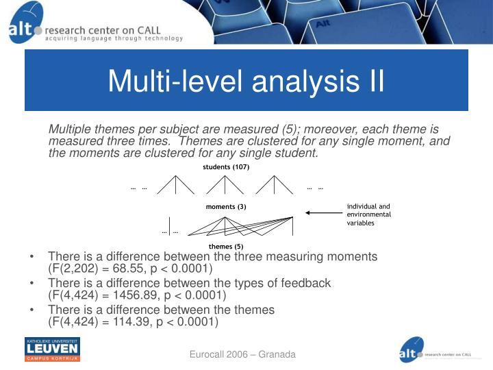 Multi-level analysis II