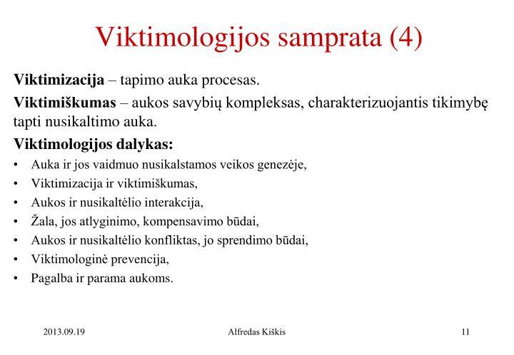 Viktimologijos samprata (4)