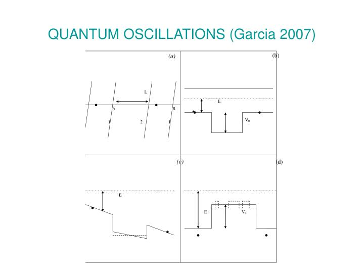 QUANTUM OSCILLATIONS (Garcia 2007)