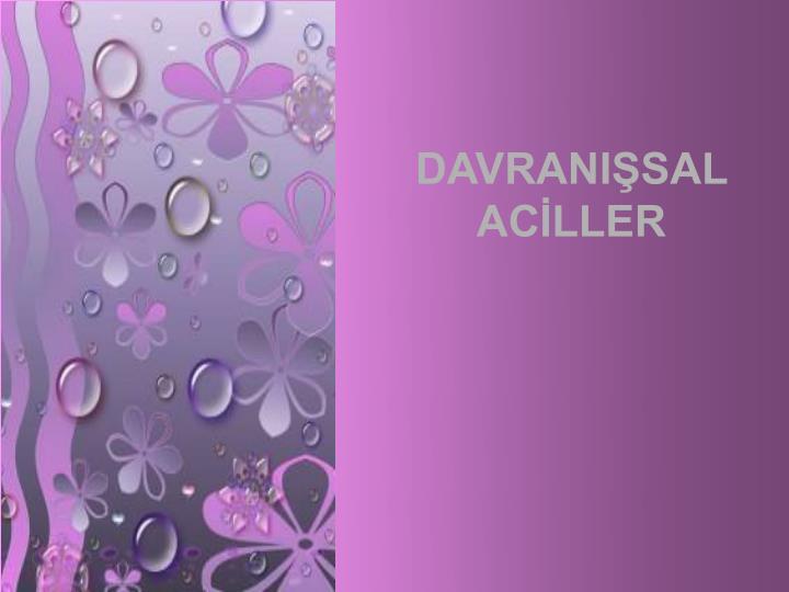 DAVRANISAL ACLLER