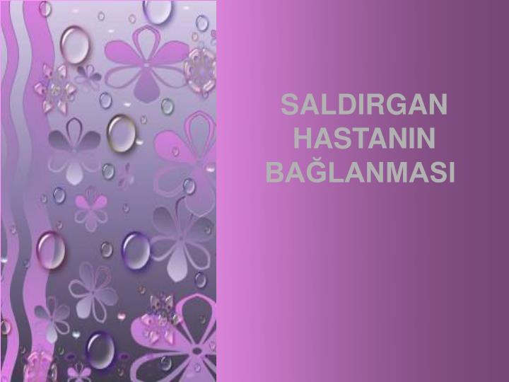 SALDIRGAN HASTANIN BALANMASI
