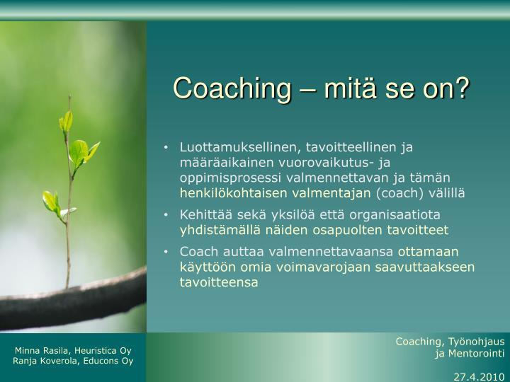 Coaching – mitä se on?