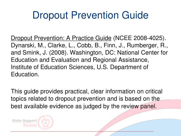 Dropout Prevention Guide