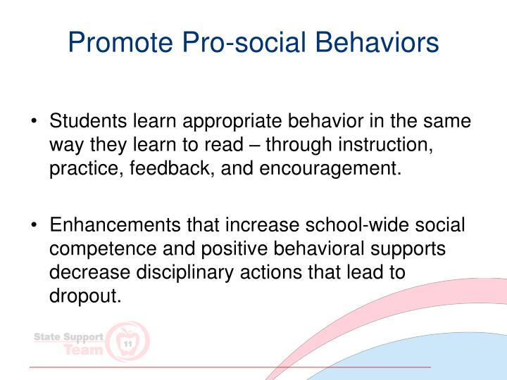 Promote Pro-social Behaviors