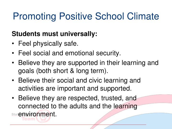 Promoting Positive School Climate