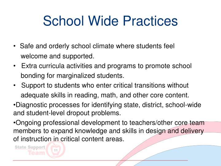 School Wide Practices