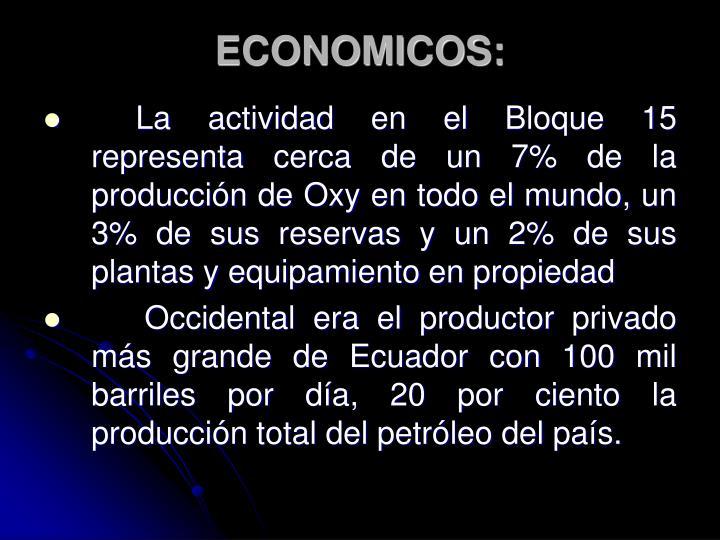 ECONOMICOS:
