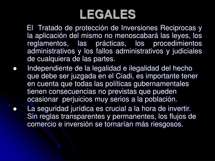 LEGALES