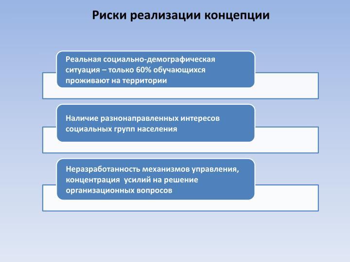 Риски реализации концепции
