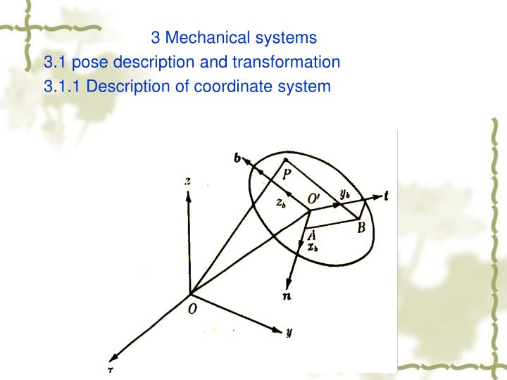 3 Mechanical systems