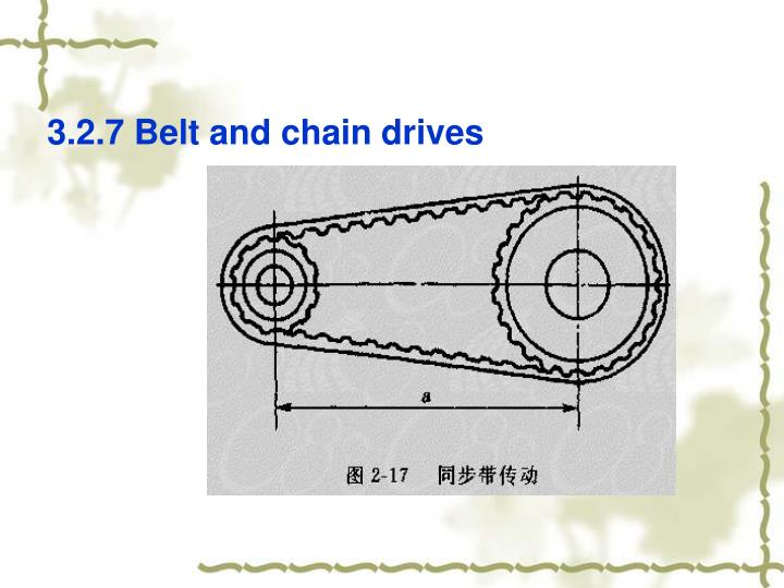 3.2.7 Belt and chain drives