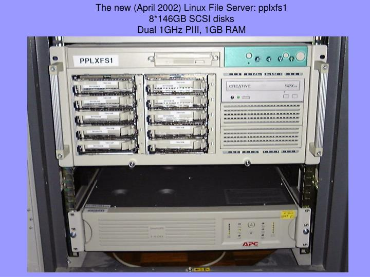 The new (April 2002) Linux File Server: pplxfs1