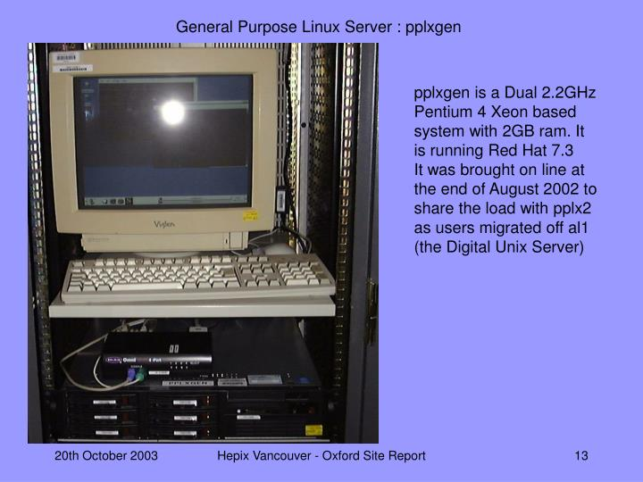 General Purpose Linux Server : pplxgen
