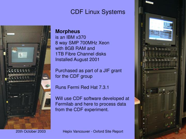 CDF Linux Systems