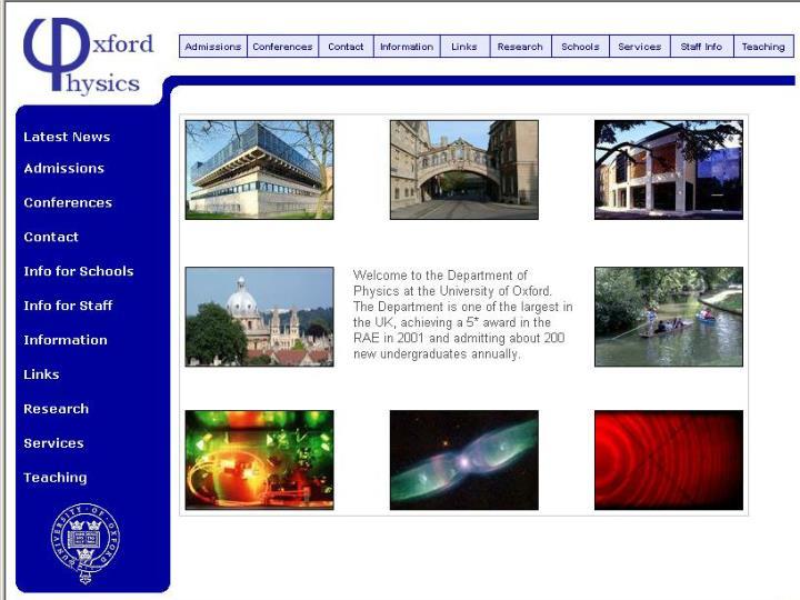 Hepix Vancouver - Oxford Site Report