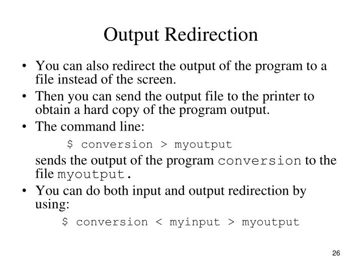 Output Redirection