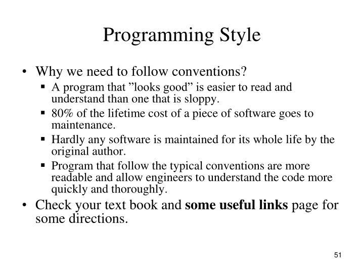 Programming Style