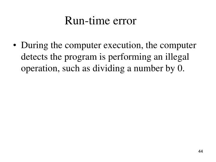 Run-time error
