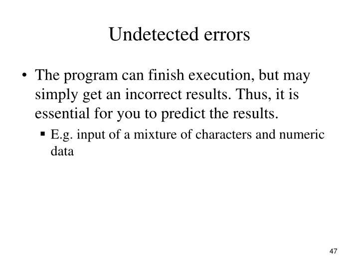 Undetected errors