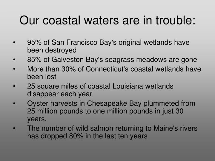Our coastal waters are in trouble