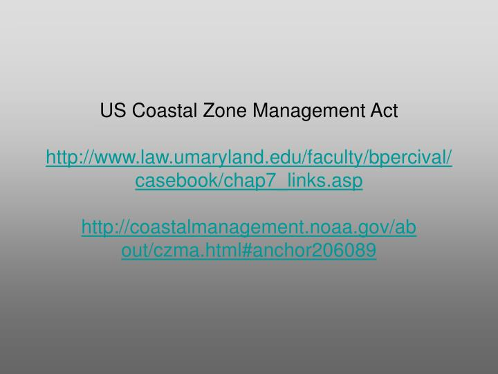 US Coastal Zone Management Act