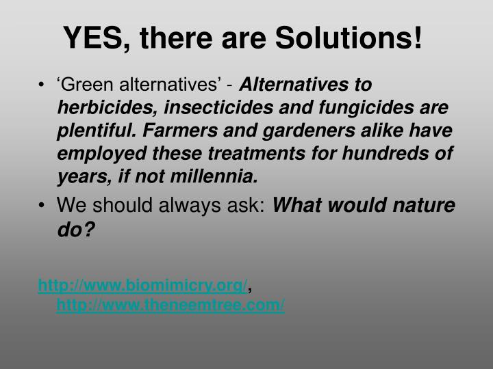 YES, there are Solutions!