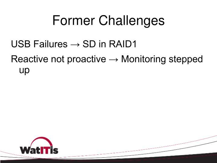 Former Challenges