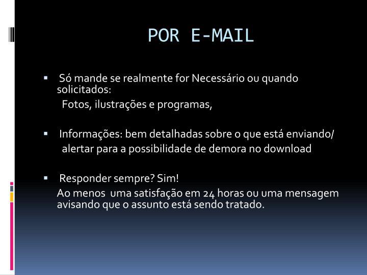 POR E-MAIL