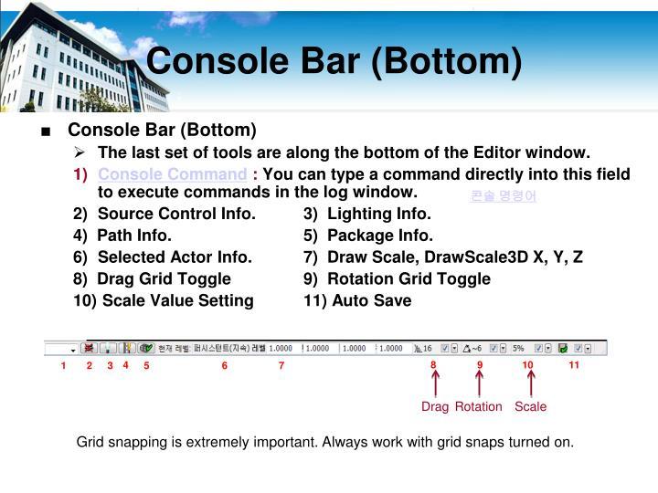 Console Bar (Bottom)