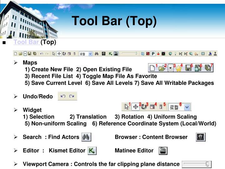 Tool Bar (Top)