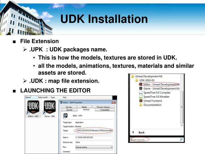 UDK Installation