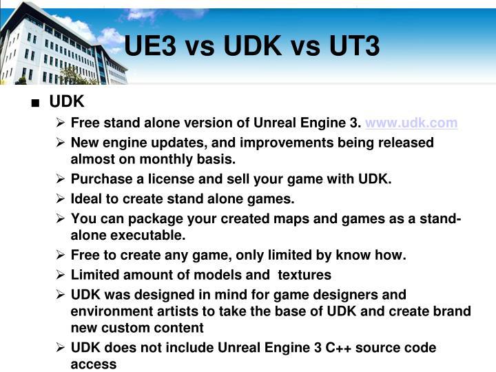 UE3 vs UDK vs UT3