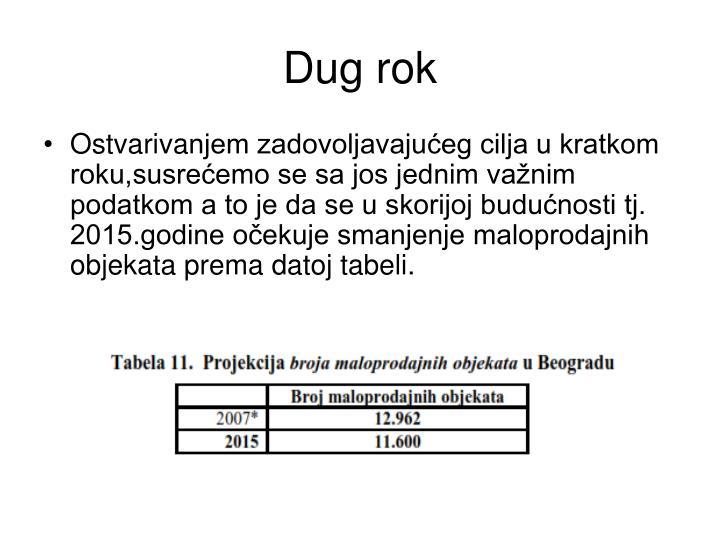 Dug rok
