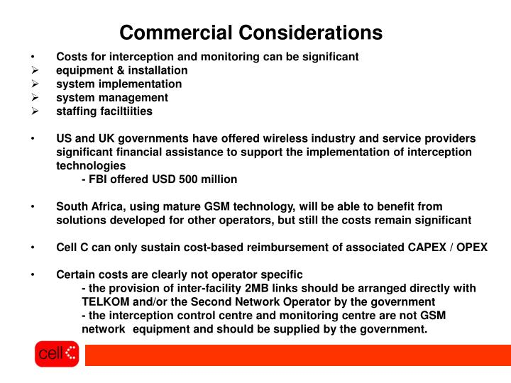Commercial Considerations
